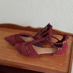 Burgundy/maroon report sandals 7 1/2